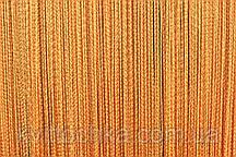Нитяная штора оранж