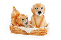 Набор солонок собачек на керамической подставке