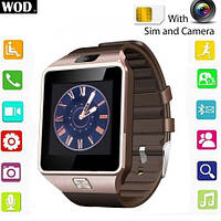 Умные часы Smart Watch GSM Camera DZ09 Gold