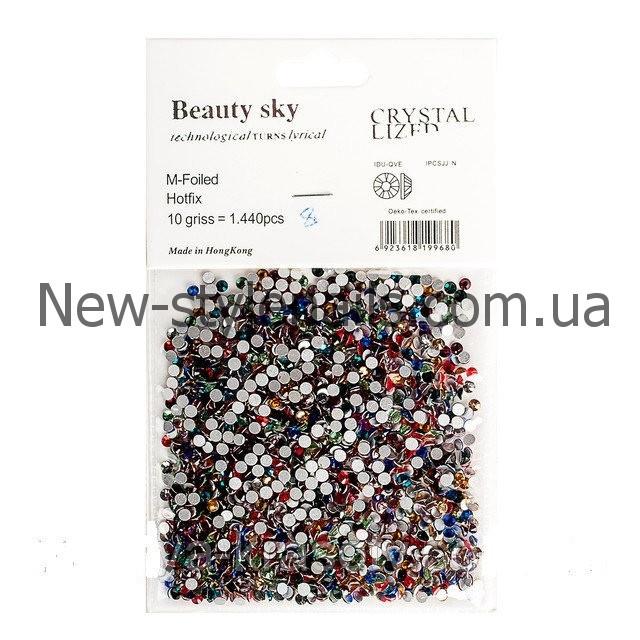 Цветные стразы для декора ногтей 1440 шт, одного размера №8