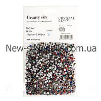 Цветные стразы для декора ногтей 1440 шт, одного размера №8, фото 1
