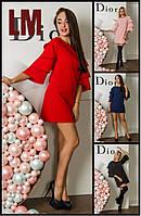 Платье Пола р S,M,L,XL женское осеннее весеннее на работу батал с воланами вечернее большого размера черное