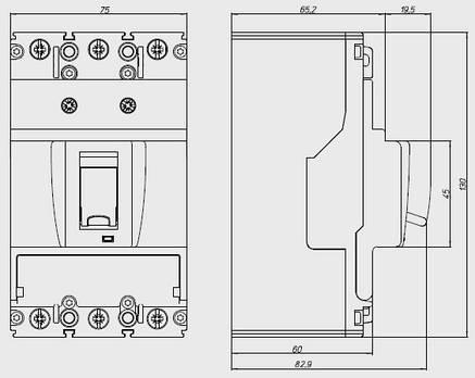 Выключатель автоматический BZMB1-A50-BT (50А 25кА) Eaton (109750), фото 2