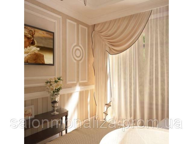 шторы в спальню на одну сторону фото