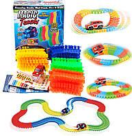 Конструктор Magic Tracks 220 деталей. Игрушка, светящаяся дорога, гоночная трасса.
