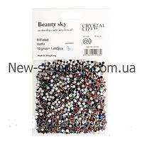 Цветные стразы для декора ногтей 1440 шт, одного размера №10, фото 1