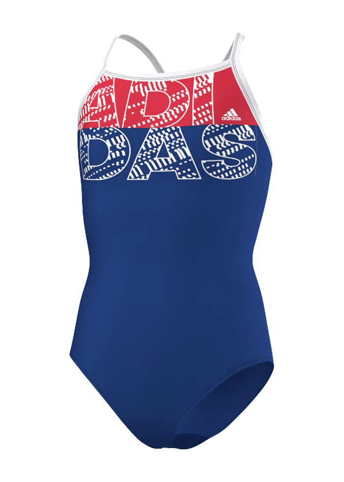 Купальник  Adidas ay1528 performance swimsuit - royal / ray red