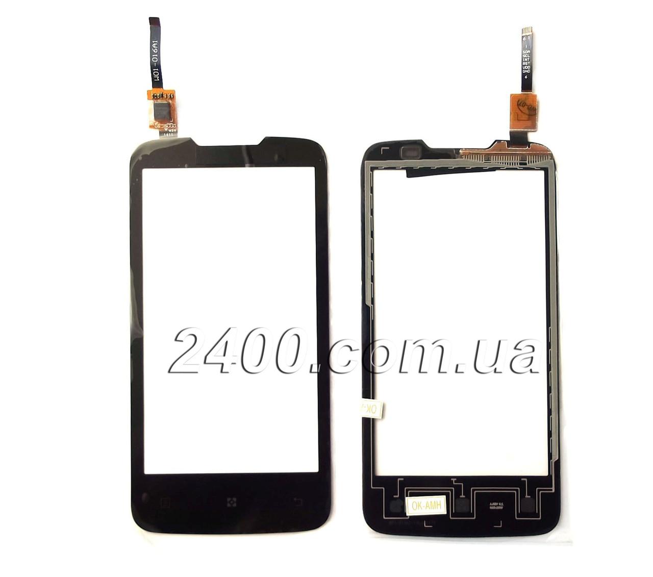 Тачскрин (сенсор) Lenovo A 820 для телефона черный