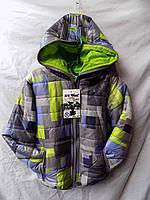 Куртка детская зима с капюшоном Китай мальчик синяя