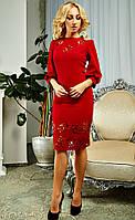 Очаровательное платье красного насыщенного цвета
