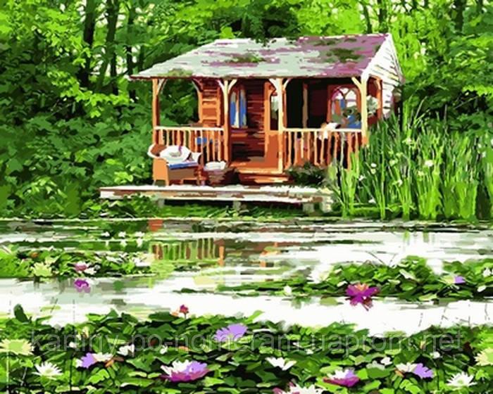 Картина по номерам VP803 Старый лодочный домик Худ Ричард Макнейл (40 х 50 см) Турбо