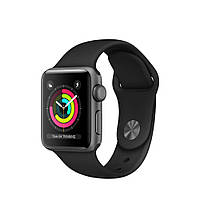 Apple Watch Series 3 GPS 38mm Space Gray Aluminum Case with Black Sport Band MQKV2 [38mm|Black Sport Band]