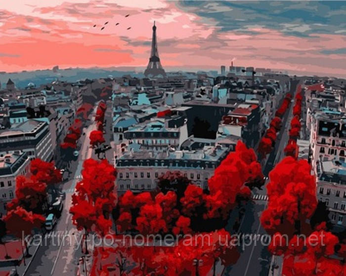 Картина по номерам VP833 Алые краски Парижа (40 х 50 см) Турбо