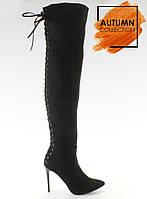 Черные женские ботфорты sy-12 35