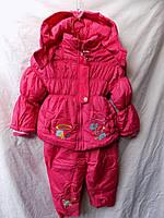 Комбинезон детский зима на девочку Китай малиновый