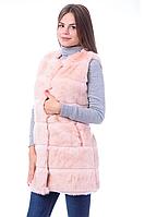 Жилет эко- мех розовый песец 249