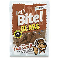 Brit Let's Bite BEARS 150 г - лакомство для дрессировки собак (дикий кабан)