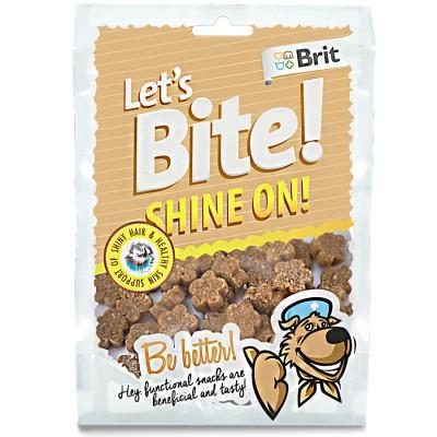 Brit (Брит) Let's Bite SHINE ON - Здоровье кожи и шерсти - лакомство для собак (лосось)