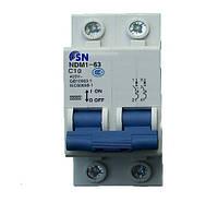 Автоматический выключатель SN на DIN-рейку NDM1-63 C1-63 2P