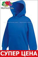 Детская классическая толстовка с капюшоном Ярко-синяя Fruit Of The Loom 62-043-51  12-13