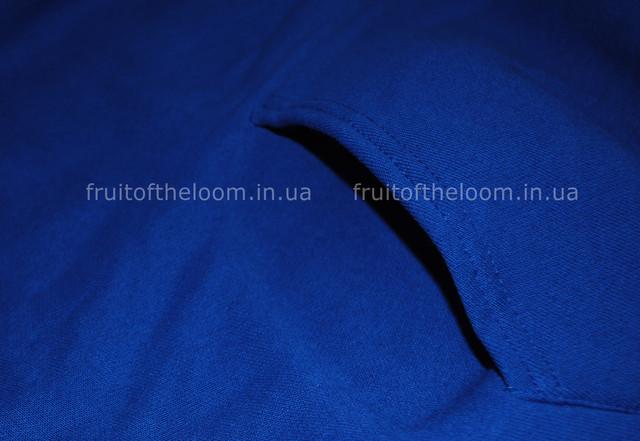Ярко-синяя детская классическая толстовка с капюшоном