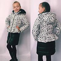 Куртка для девочки с цветочным принтом (122-134)