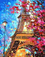 Рисование по номерам (на цветном холсте) DIY Babylon Premium Краски весеннего Парижа (NB612) 40 х 50 см