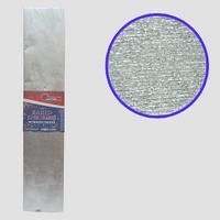 Гофро-папір JO Сріблястий металік 30%, 20г/м2 50*200см, KRM-8060
