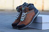 Ботинки мужские Lacoste (коричневые), ТОП-реплика, фото 1