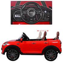 Детский электромобиль Mini Cooper M 3595 красный, фото 2