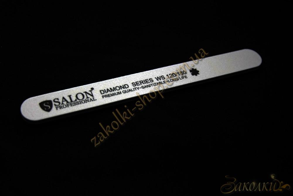 Пилка для ногтей Салон SALON Professional DIAMOND Series 120/180, прямая, узкая, 1 штука