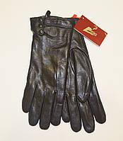 Женские кожаные перчатки на натур. меху