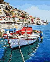 Картины по номерам море Лазурные воды Греции (VP831) 40 х 50 см DIY Babylon