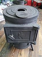 Печь-буржуйка чугунная+металл 3 мм (дерево-уголь)
