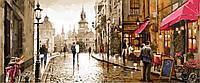Картина по номерам DIY Babylon Триптих Краски вечернего города (VPT027) 50 х 150 см