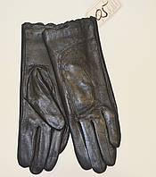 Женские кожаные перчатки на на меху кролика