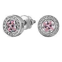 Серьги из серебра с куб. циркониями  178131 розовый