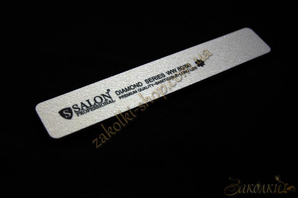 Пилка для ногтей Салон SALON Professional DIAMOND Series 80/80, прямая, широкая, 1 штука