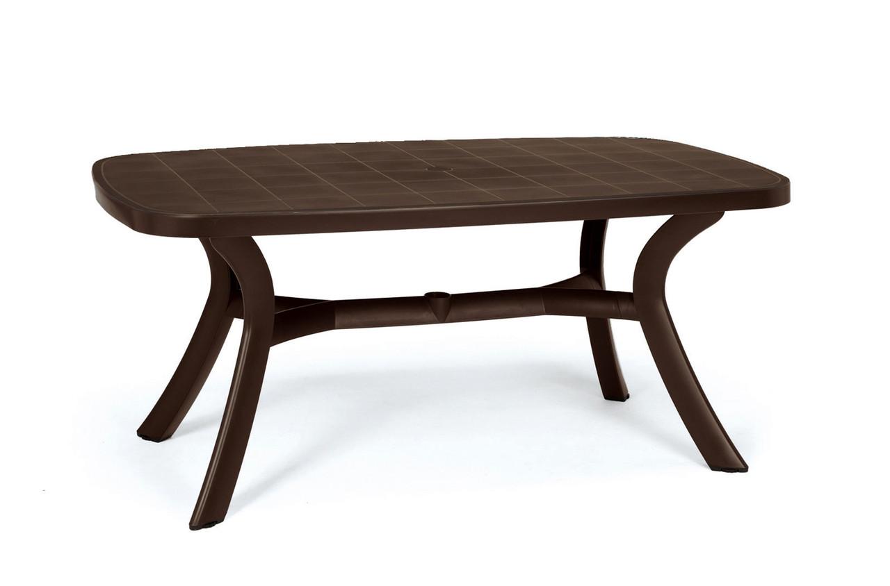 Стол садовый Toscana 165x95 шоколадный