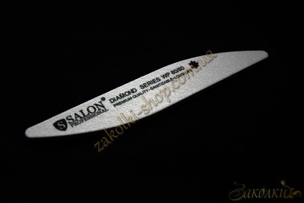 Пилка для нігтів Салон SALON Professional DIAMOND Series 80/80, крапля, широка, 1 штука
