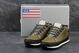 Ботинки мужские New Balance 754 (оливковые) демисезонные, ТОП-реплика