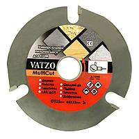 Безопасный трехзубый пильный диск на болгарку (УШМ) Vatzo MultiCut 125мм, фото 1