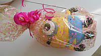 Оформление игрушки целлофаном или оберточной бумагой  с бантом при заказе у нас игрушки