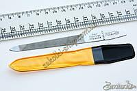 Пилочка металическая FIGARO с насечкой двухсторонняя для натуральных и искуственных ногтей, 13 см, 1 штука