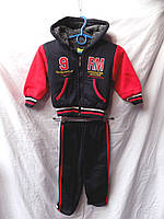 Детский спортивный костюм зима на меху Китай мальчик красный