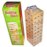 Настольная игра Jenga  54 блоков+ 4 кубикa