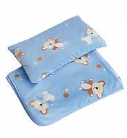 Плед и подушка детский велюр Twins Мишка