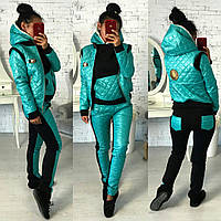 Женский зимний костюм толстовка, жилет и штаны RiK, фото 1