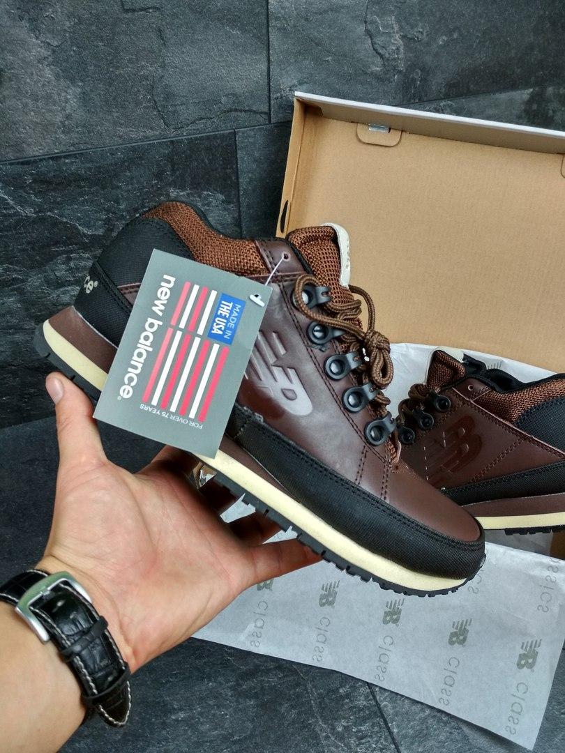 Мужские ботинки New Balance 754 (коричневые), ТОП-реплика