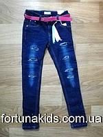 Джинсовые брюки на флисе для девочек SEAGULL 134-164 р.р.